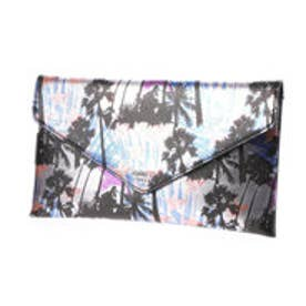 ゲス GUESS XENIA ENVELOPE CLUTCH (BLUE MULTI)