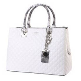 ゲス GUESS ROCHELLE GIRLFRIEND SATCHEL (WHITE MULTI)
