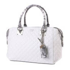 ゲス GUESS ROCHELLE SMALL SATCHEL (WHITE MULTI)