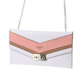 ゲス GUESS SLATER MINI CROSSBODY CLUTCH (WHITE MULTI)
