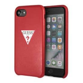 ゲス GUESS PU LEATHER CASE TRIANGLE LOGO for iPhone 8 (RED)【JAPAN EXCLUSIVE ITEM】