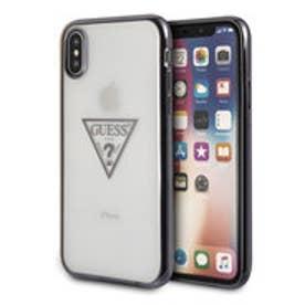 ゲス GUESS TRIANGLE LOGO TRANSPARENT TPU CASE for iPhone X (BLACK)【JAPAN EXCLUSIVE ITEM】