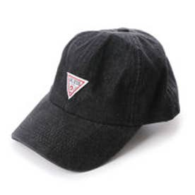 ゲス GUESS TRIANGLE LOGO DENIM 6 PANEL CAP (BLACK)