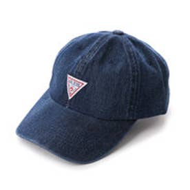 ゲス GUESS TRIANGLE LOGO DENIM 6 PANEL CAP (DARK BLUE)
