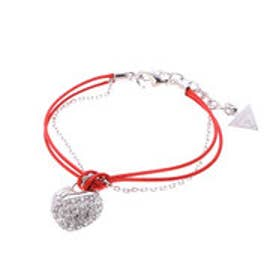 ゲス GUESS RED CORD CRUSH BRACELET SILVER