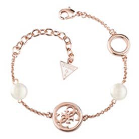 ゲス GUESS PEARL BRACELET ROSE GOLD