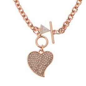 ゲス GUESS SMALL PAV HEART NECKLACE ROSE GOLD