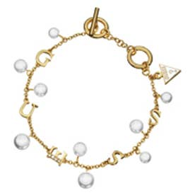 ゲス GUESS B-PEARLS BAROQUE BRACELET WHITE/GOLD