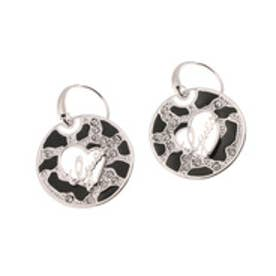 ゲス GUESS E-ANIMAL LOGO DISC FW  PIERCE (SILVER)【両耳】