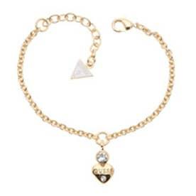 ゲス GUESS B-LITTLE HEART CHARM BRACELET (GOLD)