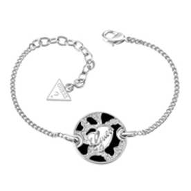 ゲス GUESS B-ANIMAL LOGO DISC BRACELET SILVER