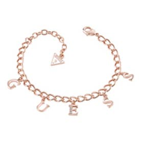 ゲス GUESS B-GUESS CHARMS BRACELET (ROSE GOLD)