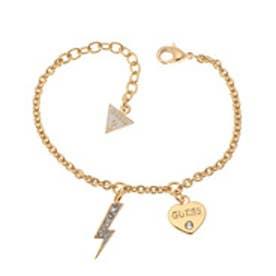 ゲス GUESS B-THUNDER HEART BRACELET (GOLD)