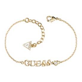 ゲス GUESS B-GUESS LOGO BRACELET (GOLD)
