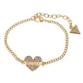ゲス GUESS B-SPARKLE HEART BRACELET (GOLD)