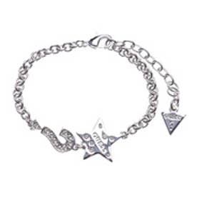 ゲス GUESS B-LIPS STAR AND ? CHARMS BRACELET (SILVER)