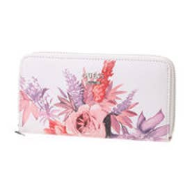ゲス GUESS ASHVILLE  MEDIUM ZIP AROUND WALLET (WHITE)
