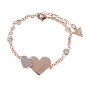ゲス GUESS ME & YOU B-PAVE & PLAIN HEARTS BRACELET (ROSE GOLD) (ROSE GOLD)
