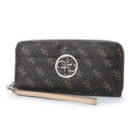 ゲス GUESS KAMRYN LARGE ZIP AROUND WALLET (BROWN)