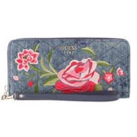 ゲス GUESS HEATHER LARGE ZIP AROUND WALLET (BLUE DENIM)