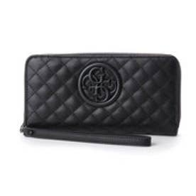ゲス GUESS G-LUX LARGE ZIP AROUND WALLET (BLACK)