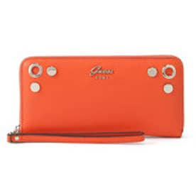 ゲス GUESS JACQUI LARGE ZIP AROUND WALLET (ORANGE)