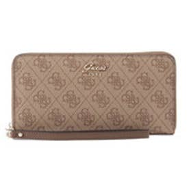 ゲス GUESS JACQUI MONOGRAM LARGE ZIP AROUND WALLET (BROWN)
