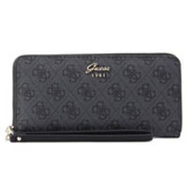 ゲス GUESS JACQUI MONOGRAM LARGE ZIP AROUND WALLET (COAL)