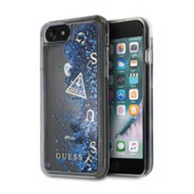ゲス GUESS LIQUID GLITTER HARD CASE for iPhone 8 (BLUE)
