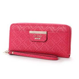 ゲス GUESS BOBBI LARGE ZIP AROUND WALLET (RED)