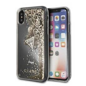 ゲス GUESS LIQUID GLITTER HARD CASE for iPhone X (GOLD)