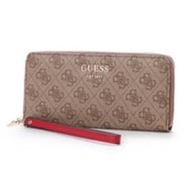 ゲス GUESS VIKKY LARGE ZIP AROUND WALLET (BROWN)