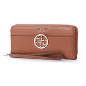 ゲス GUESS KAMRYN LARGE ZIP AROUND WALLET (COGNAC)
