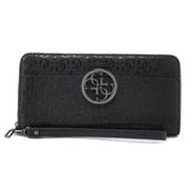 ゲス GUESS KAMRYN LOGO LARGE ZIP AROUND WALLET (BLACK)