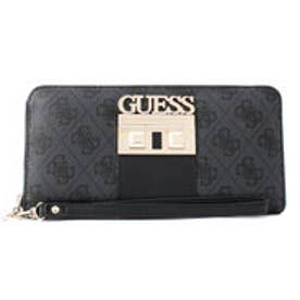 ゲス GUESS LOGO LUXE LARGE ZIP AROUND WALLET (COAL)