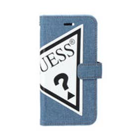 ゲス GUESS TRIANGLE LOGO BOOKTYPE CASE for iPhone 8 (BLUE DENIM) (BLUE DENIM)
