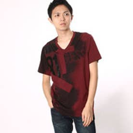 ゲス GUESS S/S BSC RED 81 V-NECK TEE