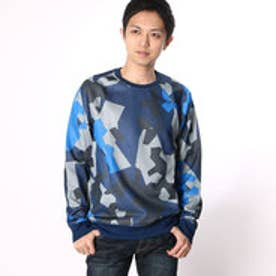 ゲス GUESS GEO CAMO-PRINT CREW SWEAT