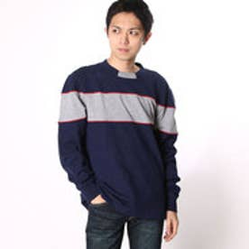 ゲス GUESS L/S CALEB REACTIVE COLOR-BLOCKED TEE