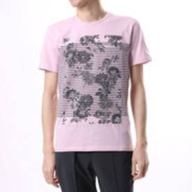 ゲス GUESS LOCKED UP TEE (ALABASTER PINK/ROUGE)