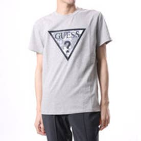 ゲス GUESS MEN'S S/S LOGO TEE (MELANGE GREY)