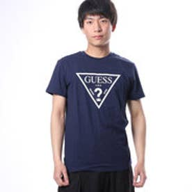 ゲス GUESS MEN'S S/S LOGO TEE (NAVY)