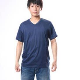 ゲス GUESS S/S SLATE PIMA V-NECK TEE (DRESS BLUES)
