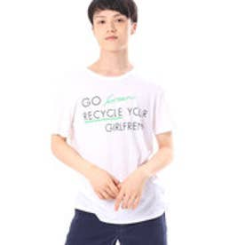 ゲス GUESS S/S GO GREEN TEE (RECYCLE PRINT)