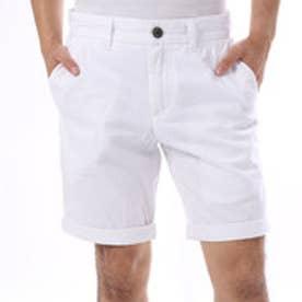 ゲス GUESS SUMMERY FLAT FRONT CLASSIC-FIT SHORT (TRUE WHITE)