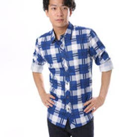 ゲス GUESS L/S GRANT COATED CLASSIC SHIRT (BLUE NILE)
