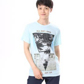 ゲス GUESS S/S PALM DESERT CREW TEE (LOVE BIRD BLUE MULTI)