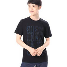 ゲス GUESS S/S OUTLINED LOGO CREW TEE (JET BLACK)