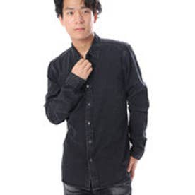 ゲス GUESS L/S DENIM SHIRT (FLIGHT WASH BLACK)