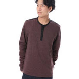 ゲス GUESS L/S FRENCH RIB SUEDE HENLEY NECK TEE (CHAMBORD MULTI)